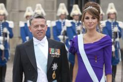 King Abdullah and his wife