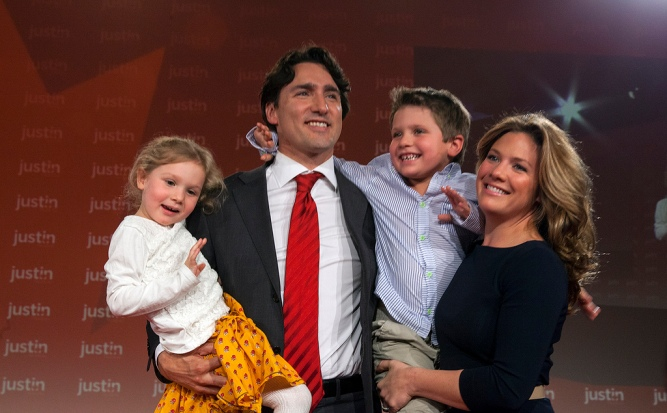 Justin Trudeau and his family