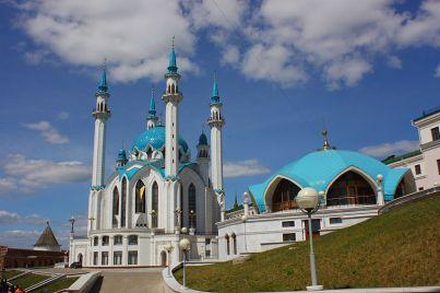 Qolşärif_Mosque largest mosque of Russia