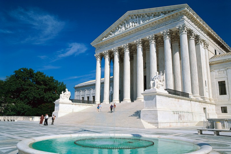 US Supreme Court  Washington, DC, USA symbolizes justice, due process and more than 200 years of constitutional debates