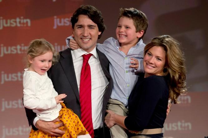 Justin Trudeau Sophie Gregoire Xavier Trudeau Ella-Grace Trudeau
