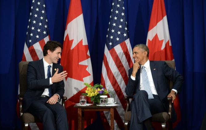 Justin Trudeau, Barack Obama