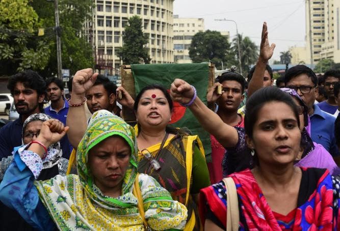 BANGLADESH-UNREST-RELIGION-PROTEST