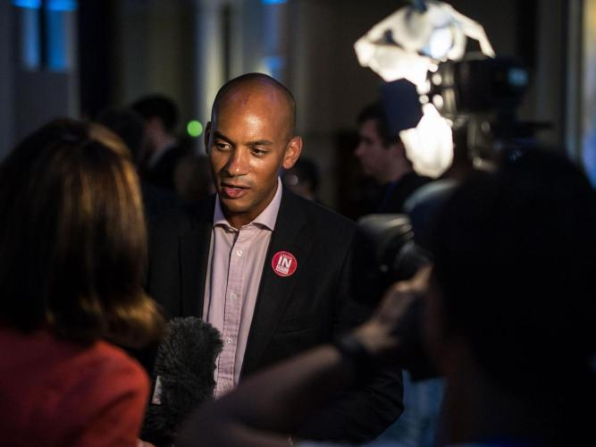 "Shadow Business Secretary Chuka Umunna described the Brexit vote as a ""wake-up call"" – twice Rex"