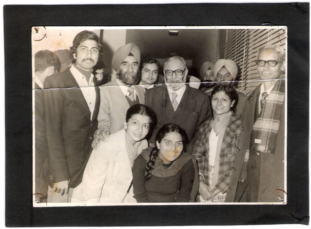 Prof. Salam with Research Scholars of GNDU Amritsar (1981)
