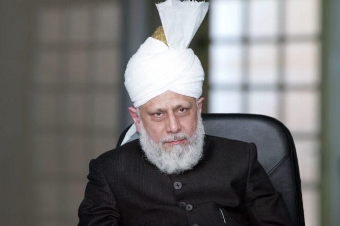 HADHRAT MIRZA MASROOR AHMAD, LEADER OF THE AHMADIYYA MUSLIM COMMUNITY