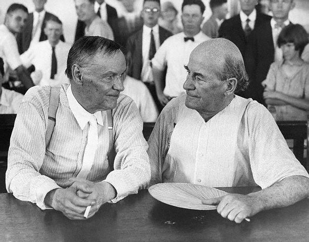 Clarence Darrow and William Jennings Bryan, 1925