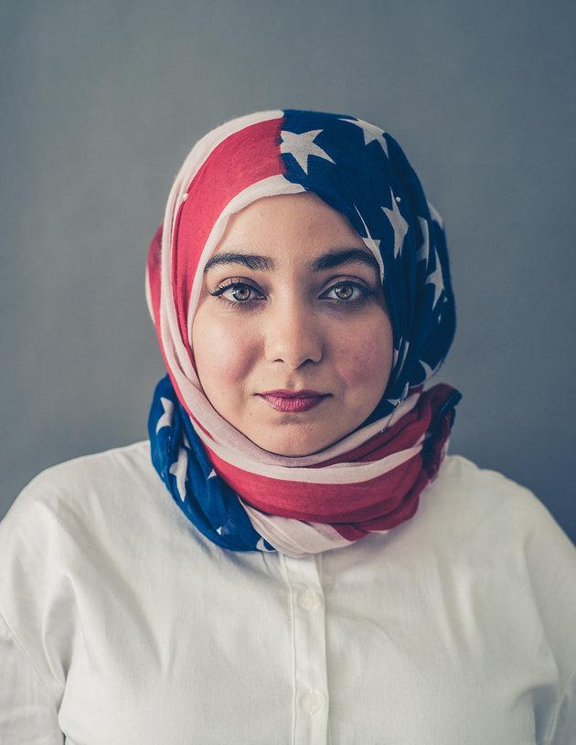 muslim-girl-in-a-flag