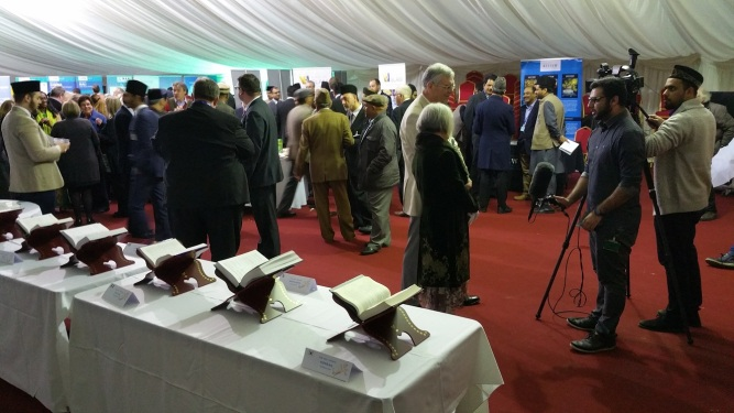 Pictures from The Holy Quran Exhibition at Ahmadiyya Muslim's Bait-ul-Futuh Mosque in London held on 25th March 2017-12