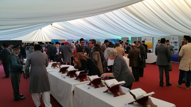 Pictures from The Holy Quran Exhibition at Ahmadiyya Muslim's Bait-ul-Futuh Mosque in London held on 25th March 2017-5