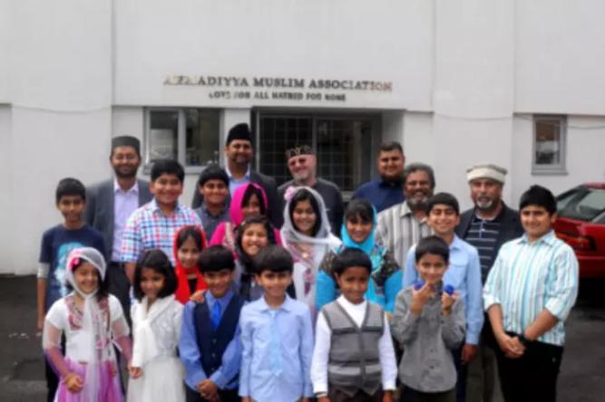 Members of the Leamington Spa branch of the Ahmadiyya Muslim Association