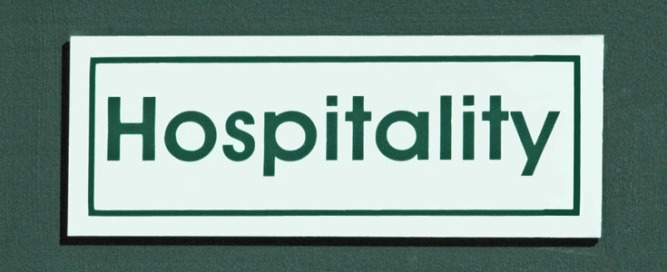 hospitality sign