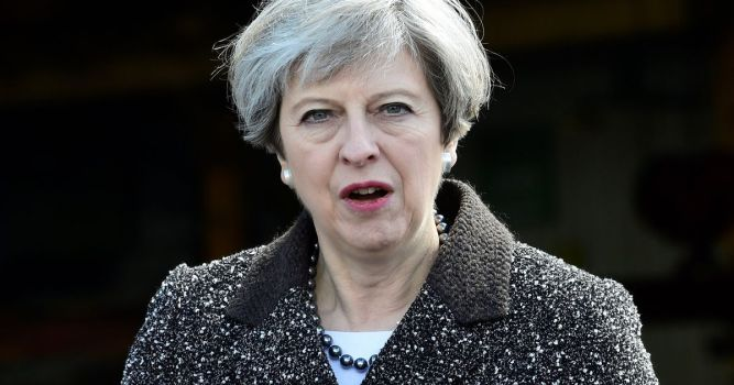 Theresa-May-Campaigns-In-South-Wales-Ahead-Of-The-June-General-Election