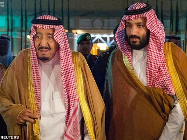 King Salman and son