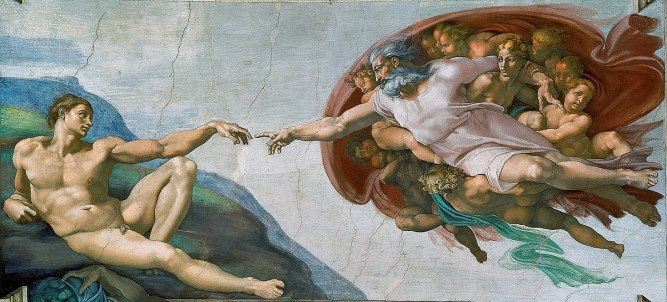 Michaelangelo God and Man