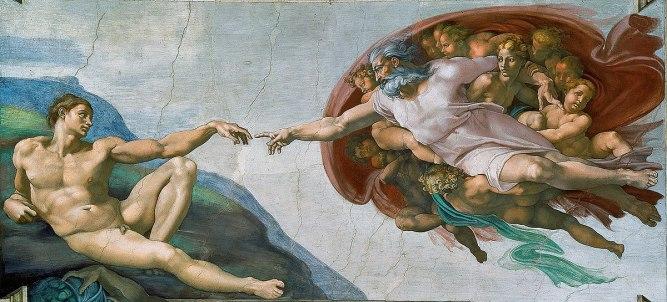 Michaelangelo God and Man
