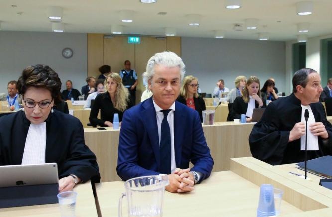 Dutch anti-Islam politician Geert Wilders appears in court in Amsterdam