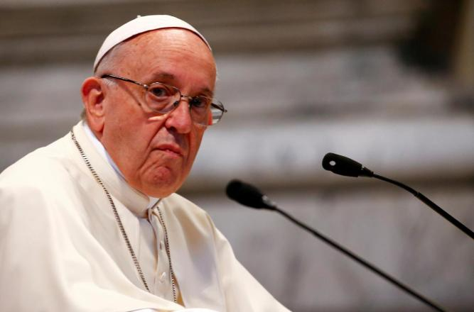 FILE PHOTO: Pope Francis attends a meeting with faithful of the diocese of Rome at Saint John Lateran Basilica in Rome