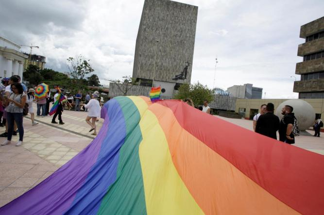 FILE PHOTO: LGBT community members and activists demostrate to demand for same-sex marriage in San Jose