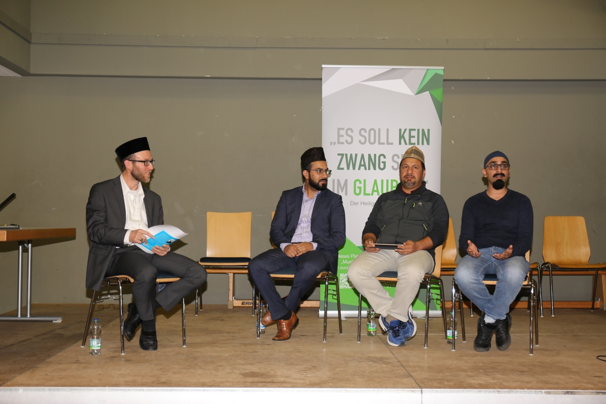 Ahmadiyya Muslims in Bensheim Germany arranged Podium-Discussion on Islam and Populism