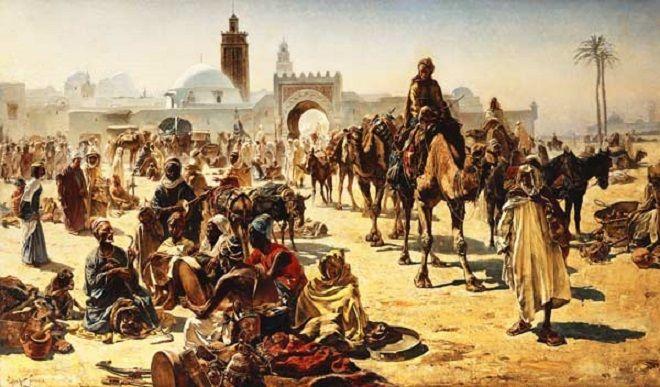 An Arab slave market