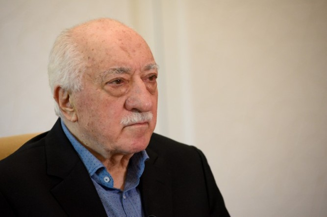 FILE PHOTO: U.S.-based Turkish cleric Fethullah Gulen at his home in Pennsylvania