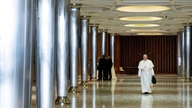 Pope Francis is seen as the four-day meeting on the global sexual abuse crisis takes place at the Vatican