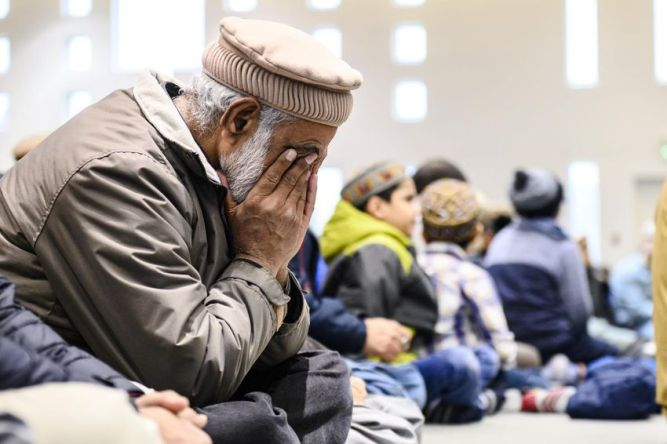 Bait ul IslamMembers of Ahmadiyya Muslim Jama`at Canada gather at the Baitul Islam Mosque during a special prayer for the victims of an attack on Muslims at the Al Noor and Linwood Mosques in Christchurch, New Zealand, in Vaughan, Ont.