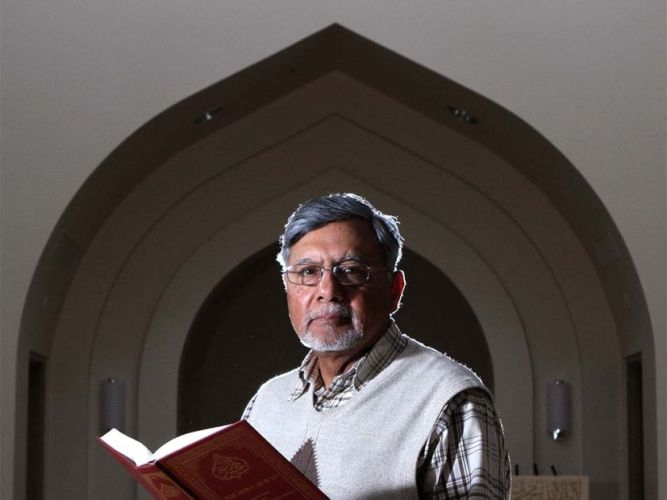 CalgarySultan Mahmood, executive member of the Baitun Nur Mosque in Calgary, Alberta is pictured in the mosque's main prayer room on March 9, 2010. (Leah Hennel, Calgary Herald)