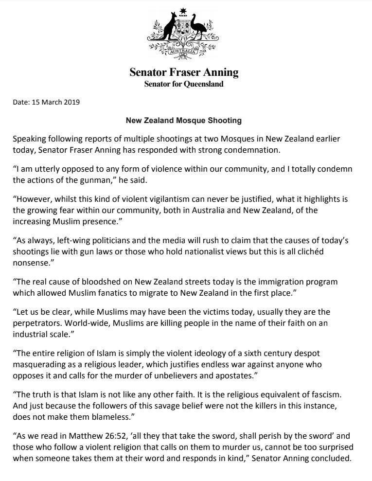 The shameful history of the Australian politician who blamed 'Muslim