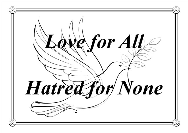 Ahmadiyya Muslim Community's Motto - Love for All, Hatred for None