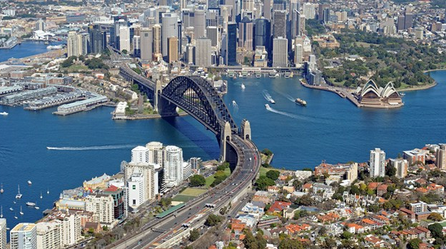 Aerial Photo of Sydney City