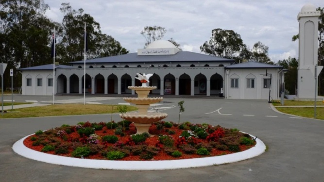 Ahmadiyya Muslim Community's beautiful Baitul Masroor Mosque in Stockleigh