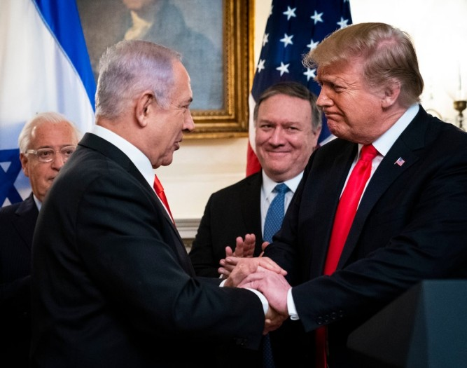 Pompeo Trump and Bibi