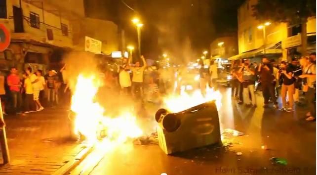 violence in Tel Aviv
