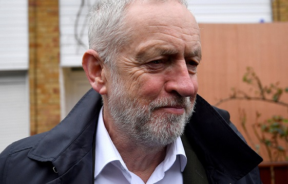 FILE PHOTO: Britain's opposition Labour Party leader Jeremy Corbyn leaves his home in London