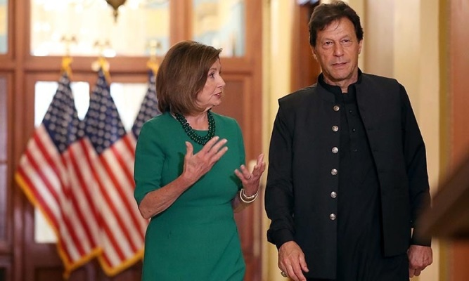 Speaker Nancy Pelosi Meets With Pakistan's Prime Minister Imran Khan