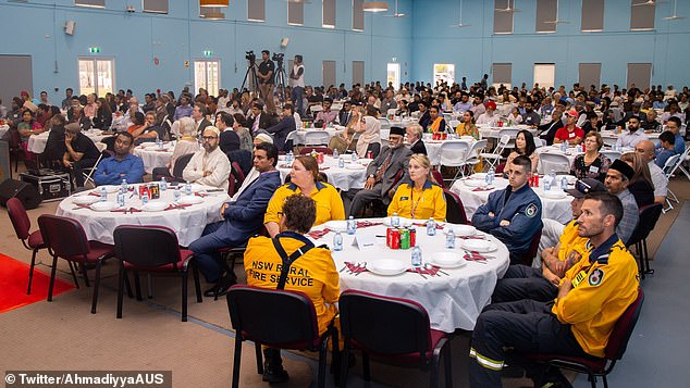Members of the NSW Rural Fire Service attended 30 years celebration at Ahamdiyya Muslim Community's Baitul Huda Mosque