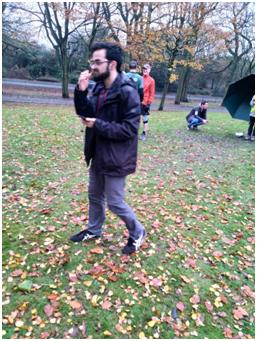 Dr Hanif Marti, a member of the Ahmadiyya Muslim Community, joined 'Park Run'