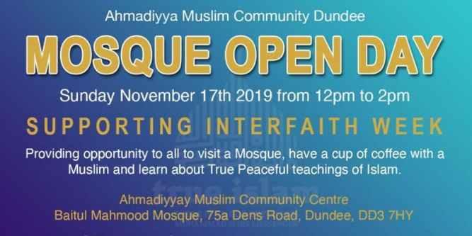 Ahmadiyya Muslim Community Dundee's Baitul Mahmood Mosque to host Open Day