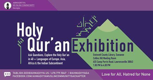 USA: Ahmadiyya Muslim Community GA to host Holy Qur'an Exhibition at Gwinnett County Library on 23rd Nov.