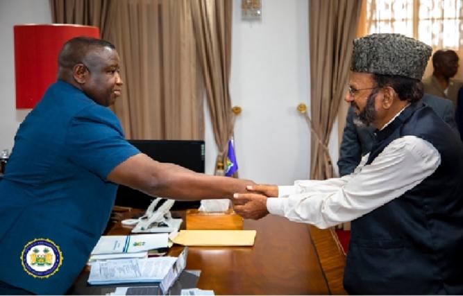 Ahmadiyya Muslim Jamaat Commends President Bio's Development Strides