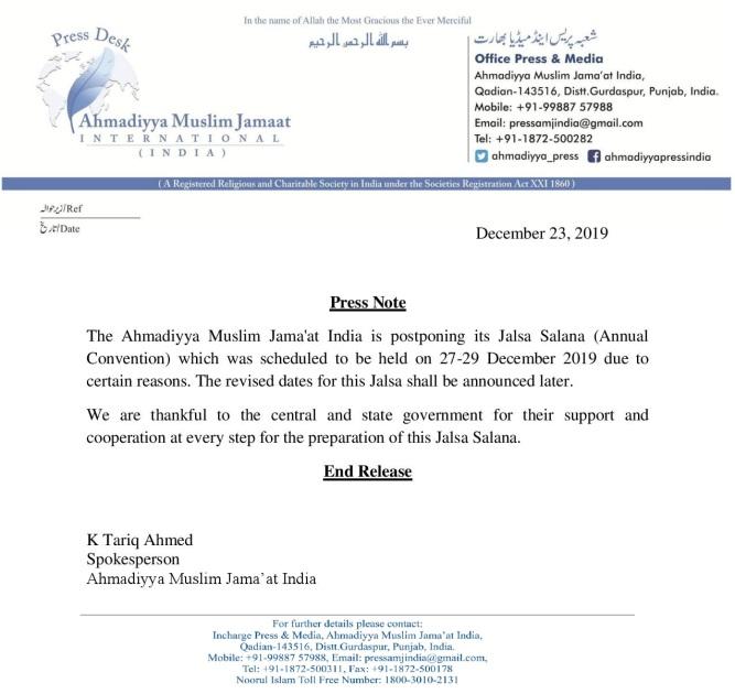 press release jalsa Salana Qadian Postponed-page-001.jpg