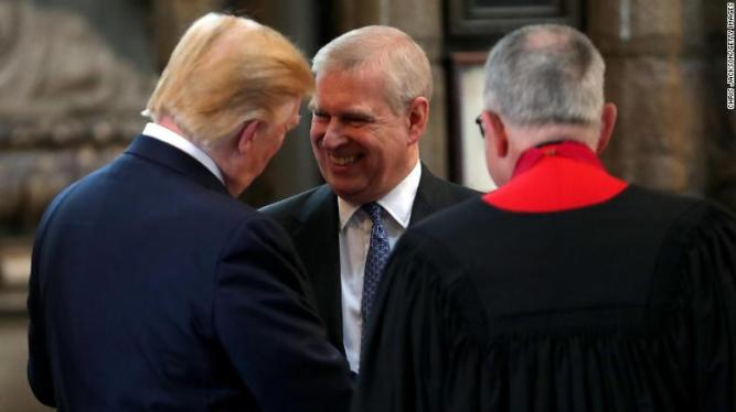 Prince Andrew and Trump