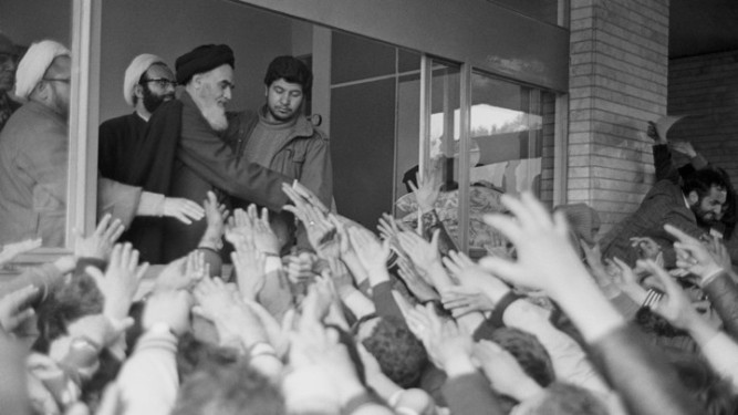 Ayatollah Khomeini Returns to Iran During Iranian Revolution