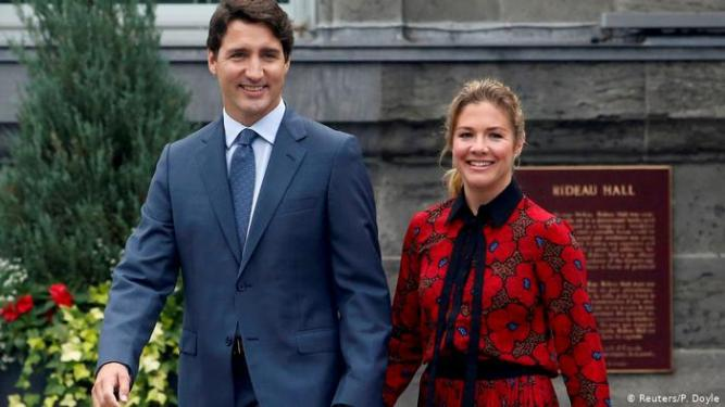 Trudeau and wife