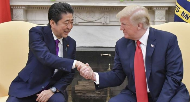 Abe with Trump