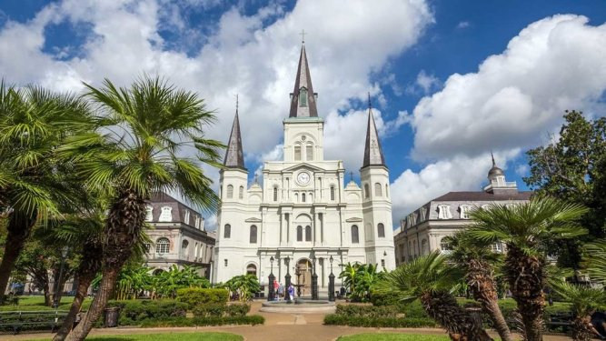 The Cathedral-Basilica of St Louis King of France in New Orleans
