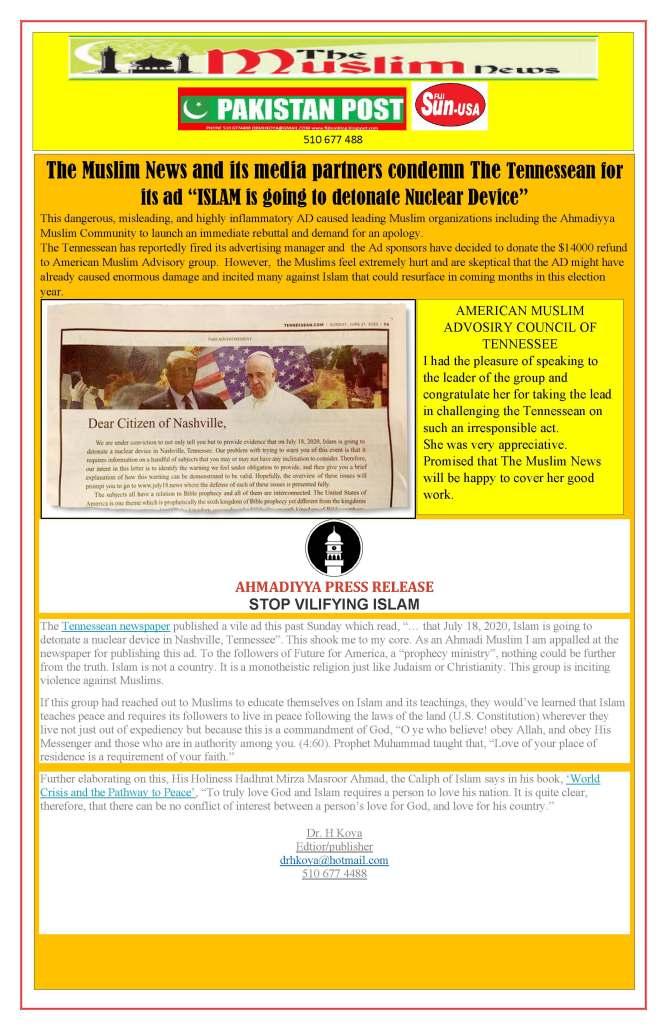 CONDEMN ATION OF TENNEESEEAN AD