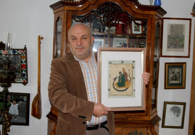 Buyer with the painting